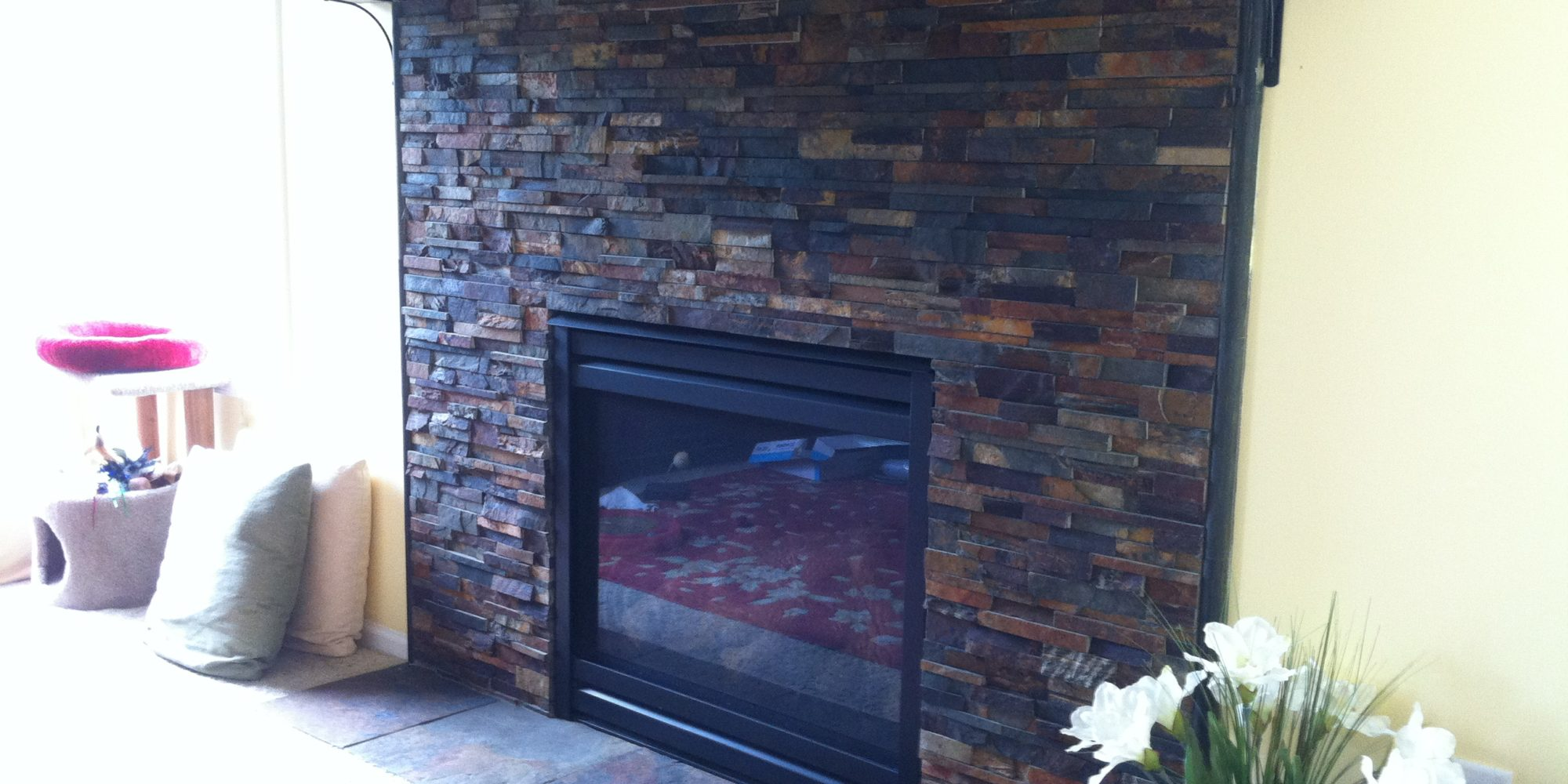 Fireplace tile installation | TOUCHDOWN TILE